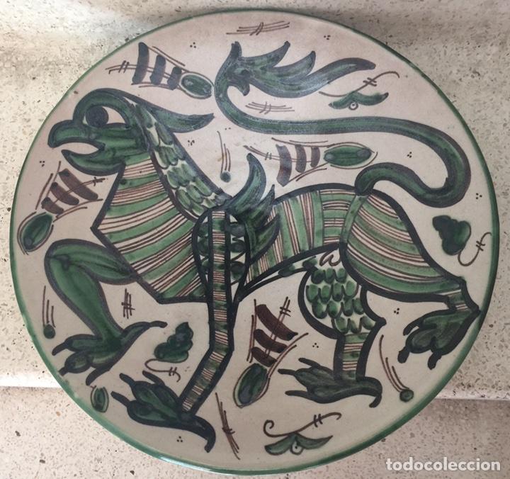 DOMINGO PUNTER. PLATO DE TERUEL. (Antigüedades - Porcelanas y Cerámicas - Teruel)
