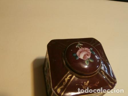 Antigüedades: Cajita octogonal porcelana - Foto 3 - 97196467