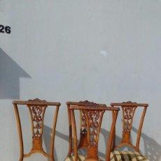 Antigüedades: CONJUNTO DE 4 SILLAS. Lote 97202099