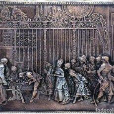 Antigüedades: LA RECTORIA. DE UN ORIGINAL DE FORTUNY. RELIEVE EN METAL CHAPADO EN PLATA. ESPAÑA. 1983. Lote 97224351
