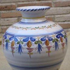 Antigüedades: TINAJA EN CERAMICA PINTADA Y VIDRIADA DE TALAVERA DE LA REINA /TOLEDO.. Lote 97227115
