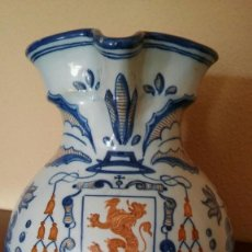 Antigüedades: JARRA DE TALAVERA, CON SOMBRERO CARDENALICIO Y SELLO EN LA BASE SIGLO XIX. Lote 97235023