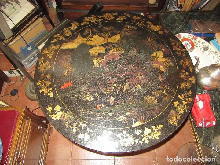 MESA CHINA LACADA, ANTIGUA (Antigüedades - Muebles Antiguos - Mesas Antiguas)