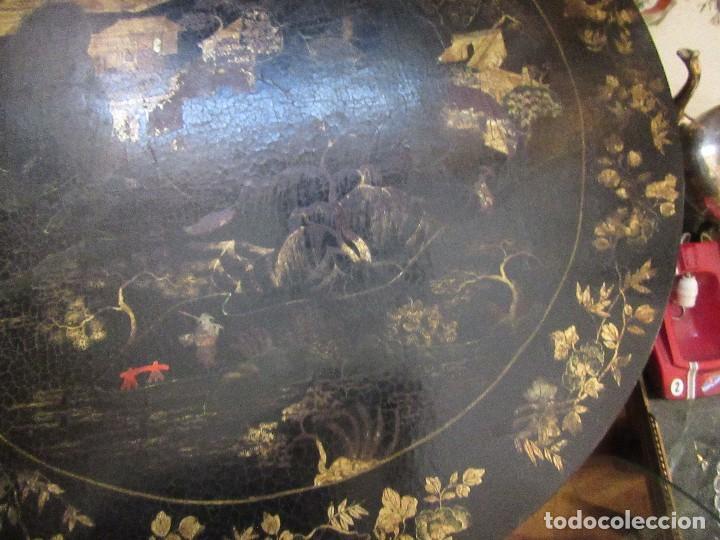 Antigüedades: MESA CHINA LACADA, ANTIGUA - Foto 7 - 97239291