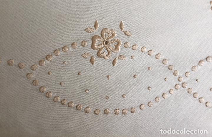 Antigüedades: PRECIOSA SABANA BORDADA ALGODÓN 100% SIN ESTRENAR CAMA DE 150 - Foto 11 - 97252707
