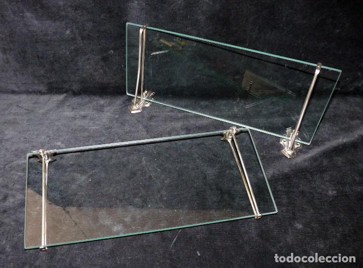 Antigua pareja de baldas o estantes de cristal comprar - Baldas de cristal ...