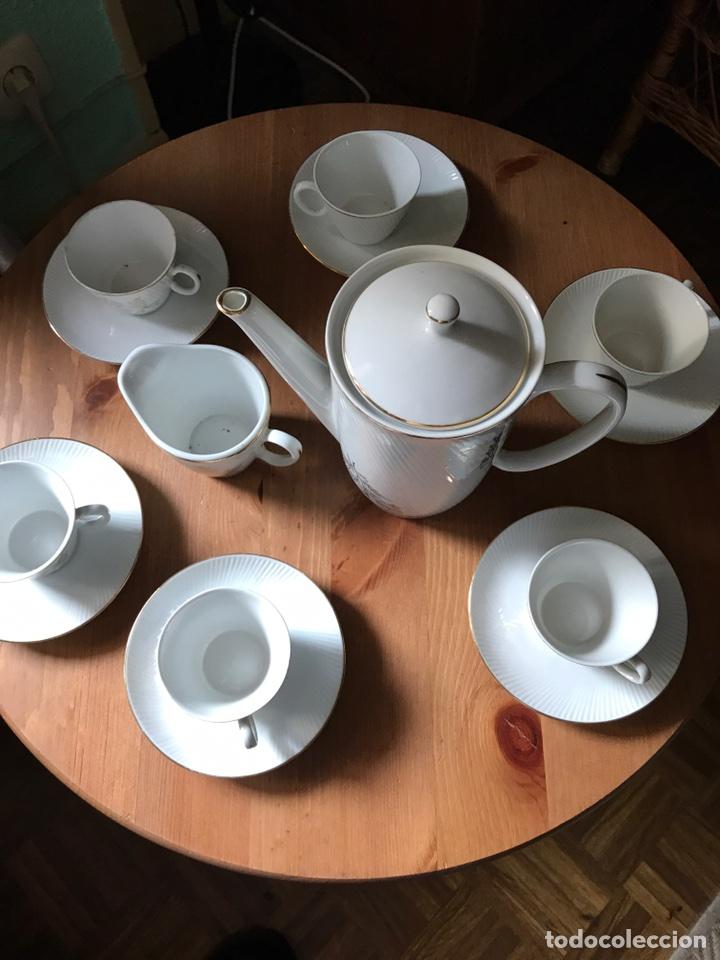 JUEGO DE CAFÉ DE AUTÉNTICA PORCELANA SANTA CLARA, ANTIGUO (Antigüedades - Porcelanas y Cerámicas - Santa Clara)