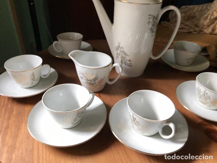 Antigüedades: Juego de café de auténtica porcelana Santa Clara, antiguo - Foto 4 - 97266116