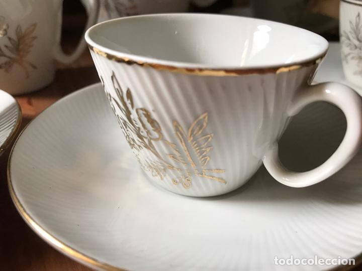 Antigüedades: Juego de café de auténtica porcelana Santa Clara, antiguo - Foto 6 - 97266116