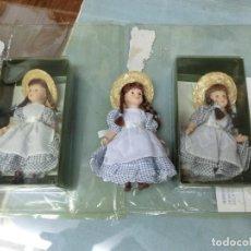 Muñecas Porcelana: CONJUNTO DE 3 MUÑECAS DE PORCELANA . Lote 97282603