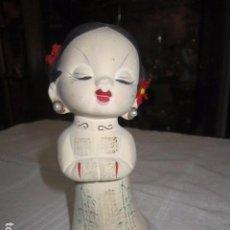 Antigüedades: GRACIOSA FIGURA JAPONESA DE CERÁMICA. 14 CMS. BUEN ESTADO- JAPAN. Lote 97292383