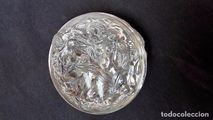 Antigüedades: polvera vidrio - Foto 4 - 97308807