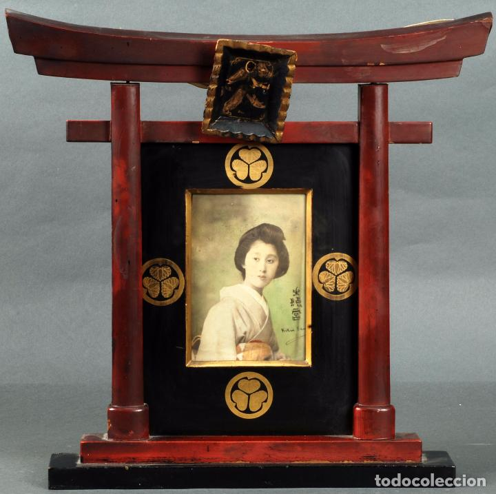 marco con fotografia iluminada geisha madera la - Comprar Marcos ...