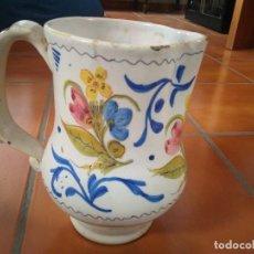 Antigüedades: JARRA DE CERÁMICA DE MANISES. 21.5 CM DE ALTURA. FIRMADA. Lote 97356343