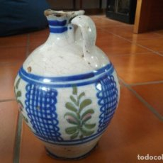 Antigüedades: JARRÓN DE CERÁMICA DE MANISES. 23 CM DE ALTURA.. Lote 97357699