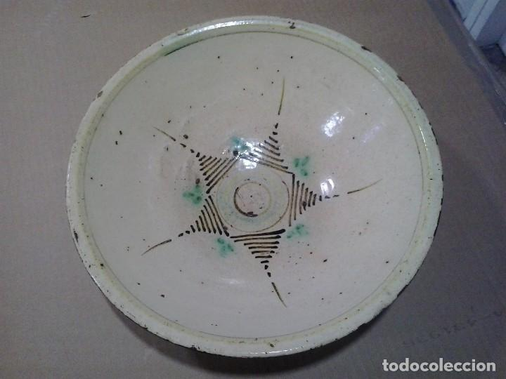 Antigüedades: Cerámica popular española ¿Talavera? 31 cm. de diámetro - Foto 3 - 97361023