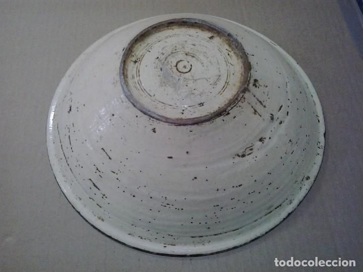 Antigüedades: Cerámica popular española ¿Talavera? 31 cm. de diámetro - Foto 4 - 97361023