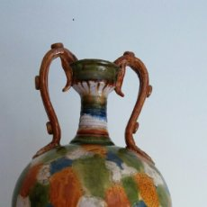 Antigüedades: JARRON MAJOLICA MUY ANTIGUA. Lote 113249696