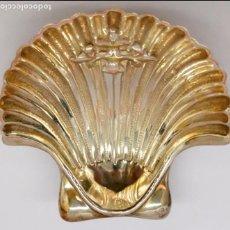 Antigüedades: BONITA CONCHA BAPTISMAL REALIZADA EN ALPACA. Lote 97363391