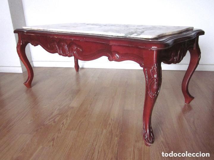 Antigua mesa de centro auxiliar madera tallada comprar - Mesas auxiliares antiguas ...