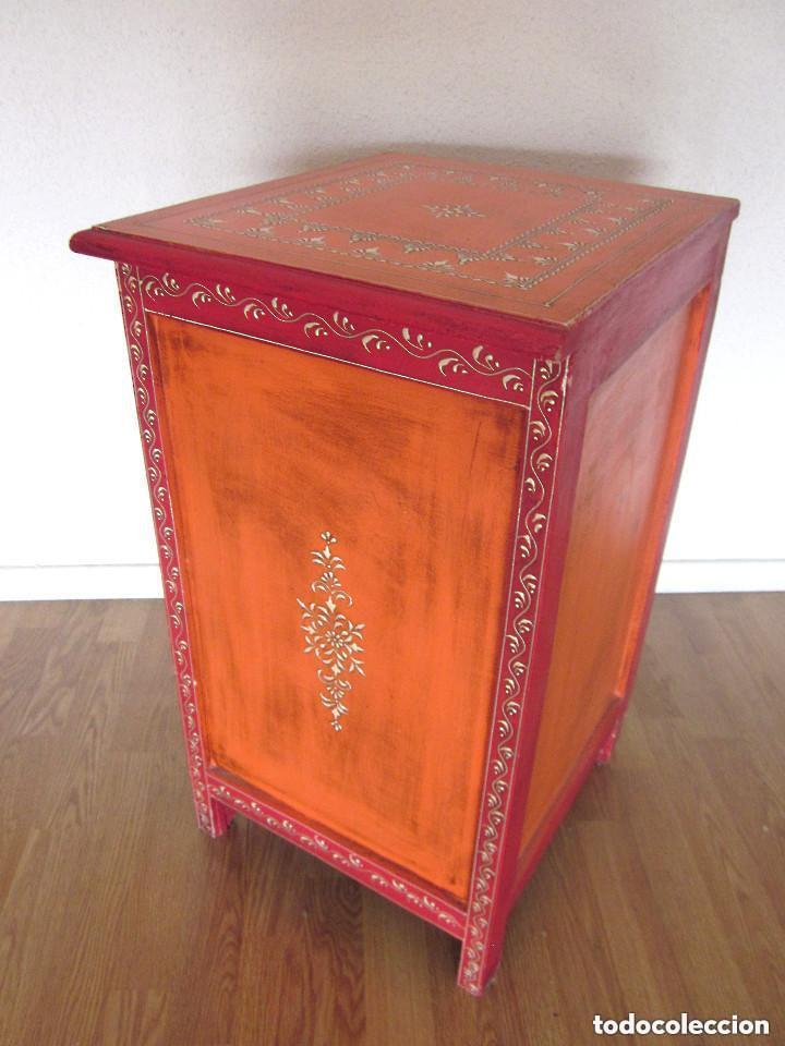 Antigüedades: Aparador cajonera mesilla o mesita de noche árabe oriental madera policromada artesanal SÓLO RECOGER - Foto 2 - 97364575