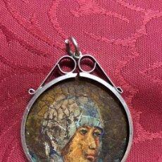 Antigüedades: RELICARIO DE PLATA CON PINTURA EN COBRE DE VIRGEN SIGLO XIX - MEDIDA 5X4 CM - RELIGIOSA - RELIGIOSO. Lote 97387307
