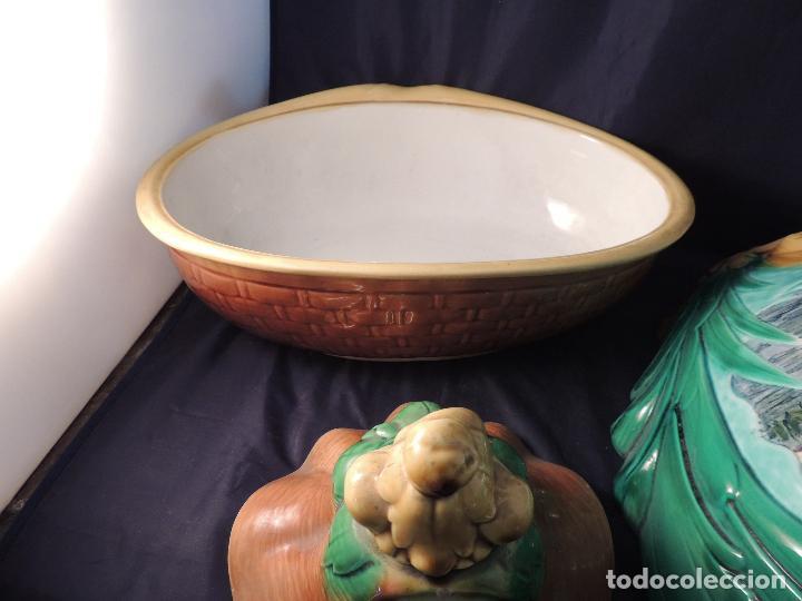 Antigüedades: FILTRO COMPLETO ANTIGUO DE PORCELANA CON SOPORTE - Foto 8 - 97452223