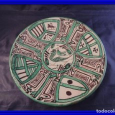 Antigüedades: PLATO DE CERAMICA FIRMADO PUNTER. Lote 97452999