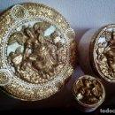 Antigüedades: 3 CAJAS DECORADAS - MAYOR / MEDIANA / PEQUEÑA - REF. 123. Lote 97464323
