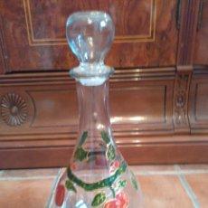 Antigüedades: BOTELLA CRISTAL DECORADA ITALY. N 4. Lote 97473519