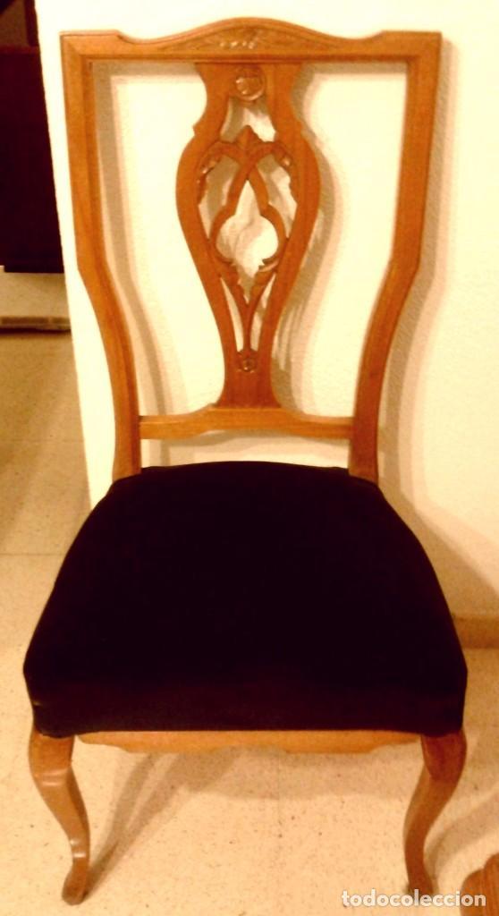 Lote 6 sillas de comedor estilo chippendale comprar - Sillas chippendale ...