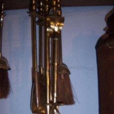 utensilios de chimenea en bronce