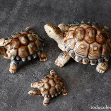 Antigüedades: 3 TORTUGAS .MADE IN ENGLAND, DE PORCELANA, CON CAJAS ORIGINALES.. Lote 97484259