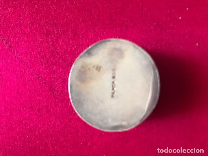 Antigüedades: Antiguo pastillero en plata y esmalte con contraste 925 - Foto 2 - 97505559