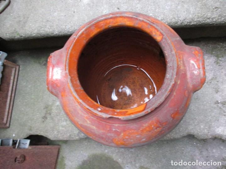 Antigüedades: TINAJA MIELERA BARRO, ASAS OREJETA - 33CM ALTO X 27CM HACIA 1950+ INFO Y FOTOS - Foto 4 - 97505571