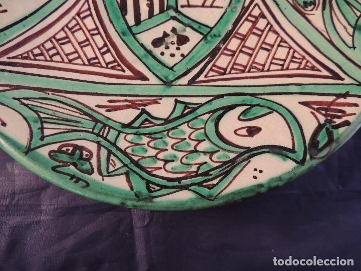 Antigüedades: PLATO CERAMICA TERUEL FIRMADO PUNTER - Foto 4 - 97507867