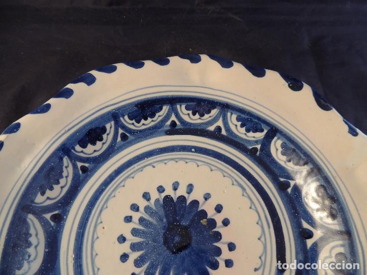 Antigüedades: PLATO DE CERAMICA EL CARMEN DE TALAVERA PERFECTO ESTADO - Foto 3 - 97512367