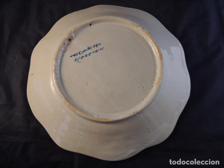 Antigüedades: PLATO DE CERAMICA EL CARMEN DE TALAVERA PERFECTO ESTADO - Foto 5 - 97512367