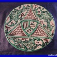 Antigüedades: PLATO CERAMICA TERUEL FIRMADO PUNTER. Lote 97507867
