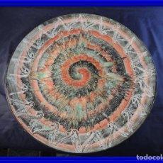 Antigüedades: ALEGRE PLATO DE CERAMICA PINTADO A MANO. Lote 97508559