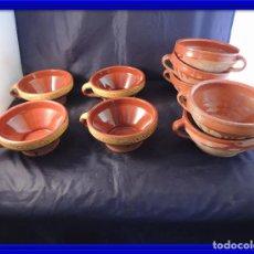 Antigüedades: CONJUNTO DE TAZONES DE BARRO. Lote 97511535