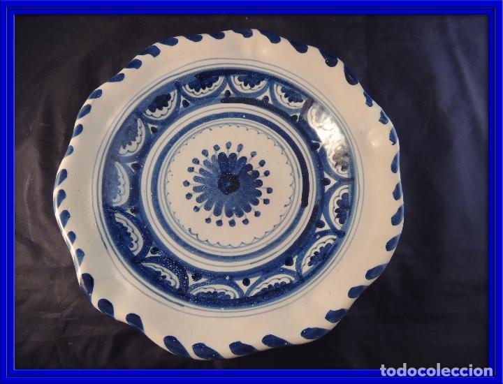 PLATO DE CERAMICA EL CARMEN DE TALAVERA PERFECTO ESTADO (Antigüedades - Porcelanas y Cerámicas - Talavera)