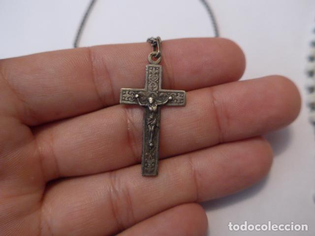 Antigüedades: * Lote 2 antiguo rosario de plata, rosarios originales. ZX - Foto 2 - 97523891