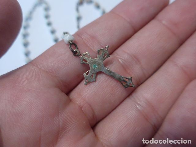Antigüedades: * Lote 2 antiguo rosario de plata, rosarios originales. ZX - Foto 6 - 97523891