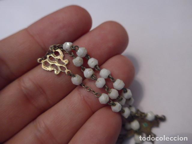 Antigüedades: * Lote 2 antiguo rosario de plata, rosarios originales. ZX - Foto 7 - 97523891