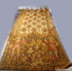 Antigüedades: 2 TAPICES SIGLO XIX . 275 CM DE ALTURA X 123 DE ANCHO. Lote 97524887