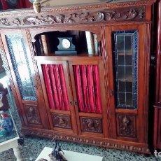 Antigüedades: LIBRERIA ANTIGUA CON VIDRIERA-. Lote 97559299