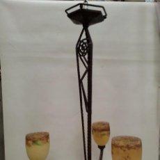 Antigüedades: LAMPARA DE TECHO ART DECO .FORJA-. Lote 97614747