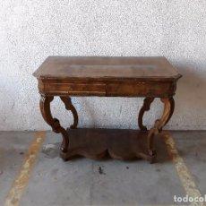 Antigüedades: CONSOLA ANTIGUA ESTILO LUIS XIV. MESA AUXILIAR ANTIGUA ESTILO FRANCÉS. MESA AUXILIAR DE PARED.. Lote 97644115