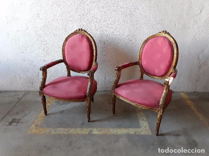 Pareja de sillones antiguos originales estilo l comprar sillones antiguos en todocoleccion - Sillones originales ...
